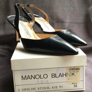 Manolo blahnik NIB  classic black ws233